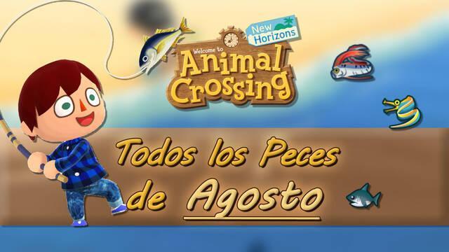 Animal Crossing New Horizons todos los peces de agosto 2021