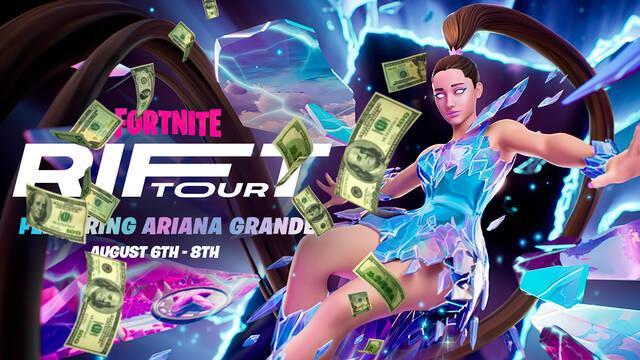 Más de 20 millones Ariana Grande en Fortnite.