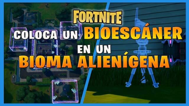 Fortnite: cómo y dónde colocar un bioescáner en un bioma alienígena