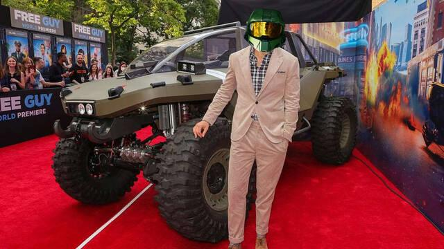 Xbox lleva un Warthog de Halo Infinite a la premiere de Free Guy.