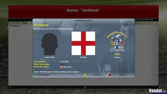 Anunciado Football Manager 2008 para Xbox 360