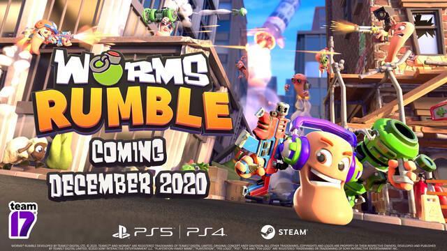 Worms Rumble 1 de diciembre PS5, PS4 y PC