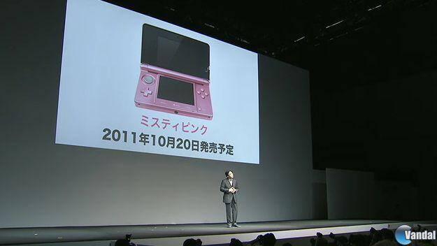 Una Nintendo 3DS rosa llegará a Japón