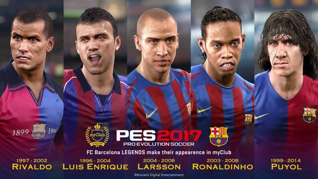 Pro Evolution Soccer 2017 nos presenta a las leyendas del F.C. Barcelona