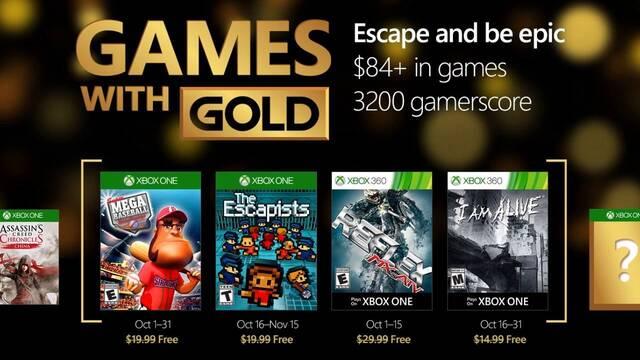Anunciados los Juegos con Gold de octubre