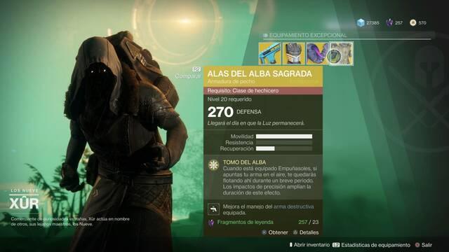 El vendedor errante Xur está de vuelta en Destiny 2