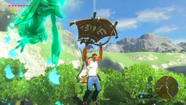 Un 'mod' introduce a CJ de GTA San Andreas en Zelda: Breath of the Wild