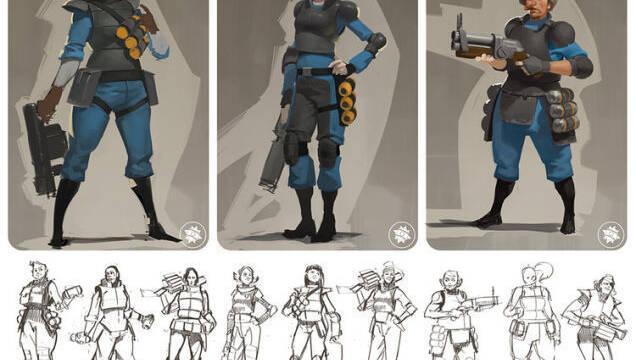 Valve valoró personajes femeninos en Team Fortress 2