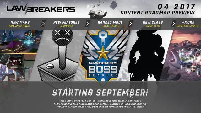 Lawbreakers recibirá nuevos mapas, clases y opciones