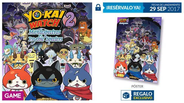 GAME anuncia su incentivo por reservas para Yo-Kai Watch 2: Mentespectros