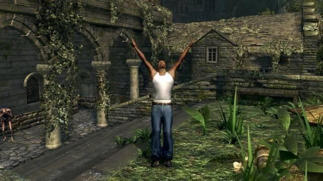 CJ de GTA San Andreas viaja hasta Lordran de Dark Souls