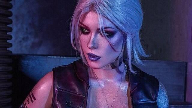 Así es la versión del cosplay de Ciri en Cyberpunk 2077