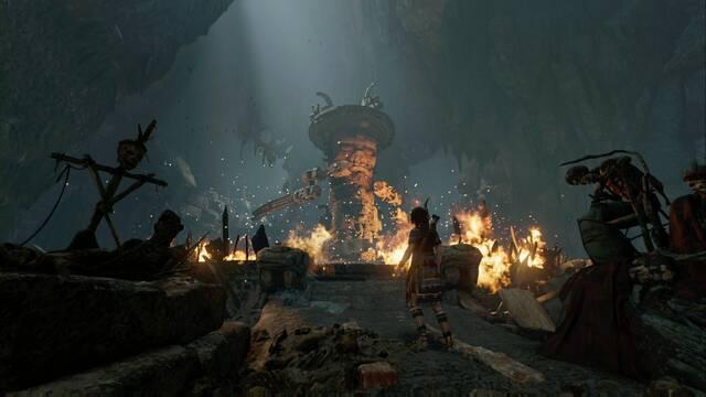 Camino de batalla en Shadow of the Tomb Raider - Tumba de Desafío