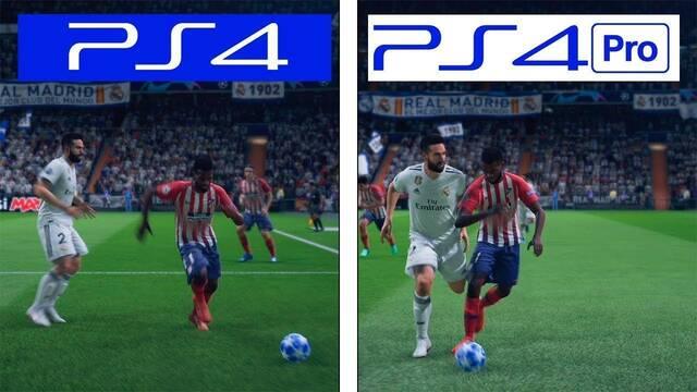 Comparan gráficamente FIFA 19 en PS4 y PS4 Pro