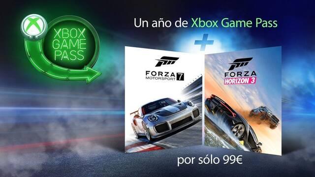 Xbox Game Pass de oferta y con Forza Motorsport 7 y Horizon 3 de regalo