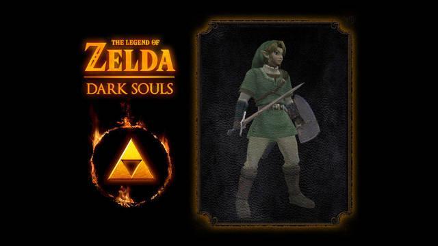 Así es el mod que añade a Link de The Legend of Zelda a Dark Souls