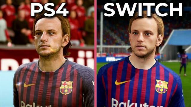 Comparan gráficamente FIFA 19 en PS4 y Nintendo Switch