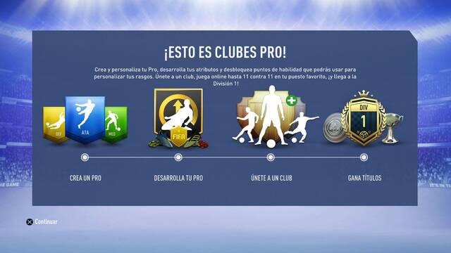Todo sobre el modo Clubes Pro en FIFA 19