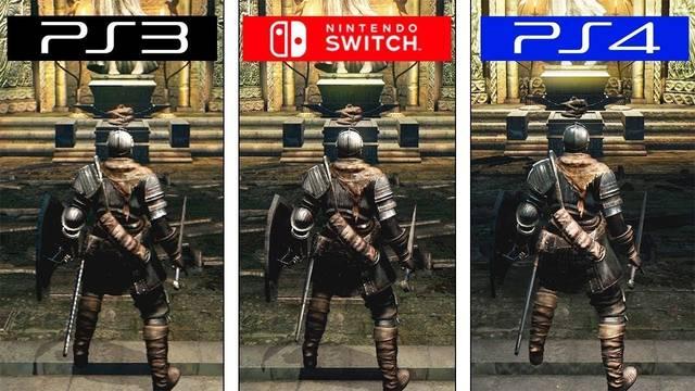 Comparación de los gráficos de Dark Souls en PS3, PS4 y Nintendo Switch