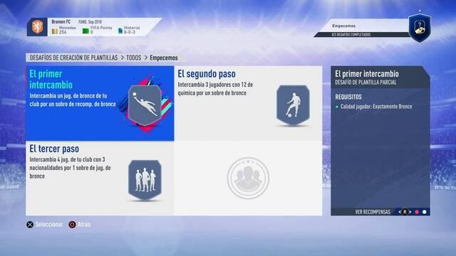 FIFA 19: Desafíos de Creación de Plantillas en FIFA Ultimate Team