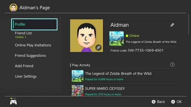 Descubren cuál es el límite de horas del contador de Nintendo Switch: 9999