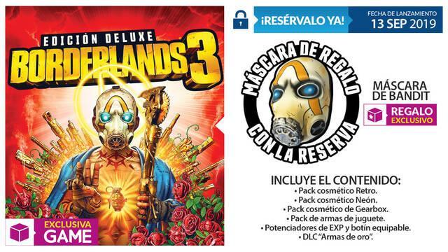 GAME celebra la llegada de Borderlands 3 y detalla todas su ediciones y merchandising