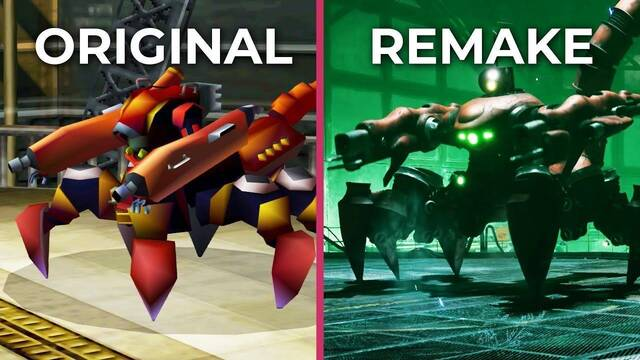 Comparan los gráficos de Final Fantasy VII Remake con el juego original de 1997
