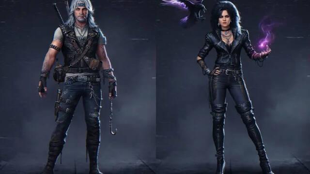 Imaginan a Geralt y Yennefer de The Witcher como personajes al estilo de los años 80