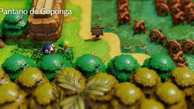 Pantano de Goponga en Zelda: Link's Awakening: secretos y 100%