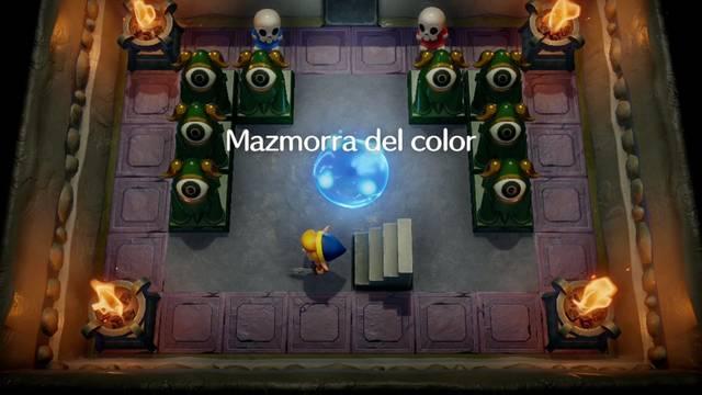Mazmorra del color en Zelda: Link's Awakening: secretos y 100%