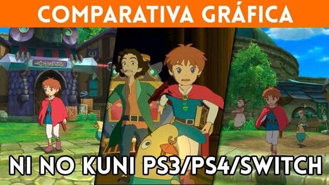 Comparativa gráfica: Así luce Ni No Kuni: La Ira de la Bruja Blanca en PS3, Switch y PS4