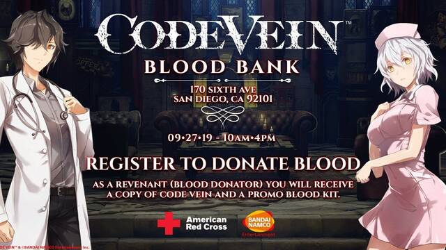 Code Vein regalará una copia del juego si donamos nuestra sangre