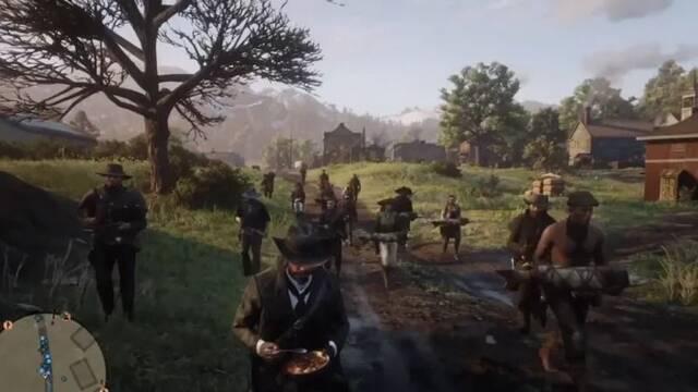 Red Dead Online: Los jugadores intentan cruzar el mapa con un bol de sopa en las manos