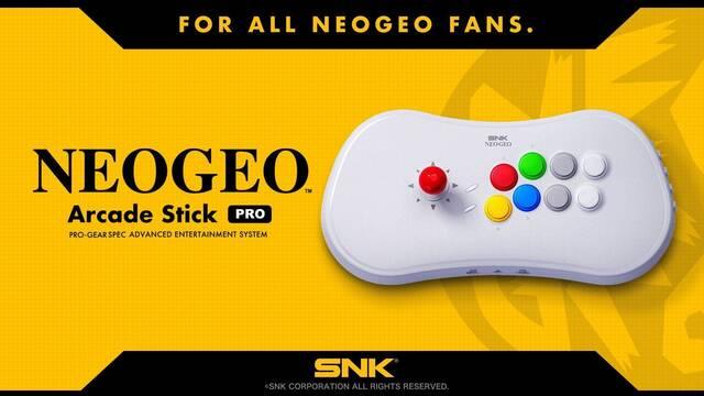 SNK anuncia un nuevo mando arcade, inspirado en aspectos de Neo Geo CD
