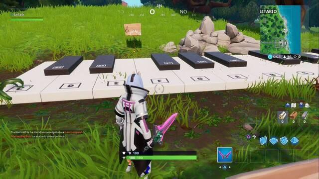 Fortnite: Toca la partitura en un piano enorme - SOLUCIÓN