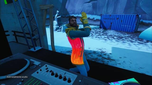 Fortnite : Baila detrás de la cabina del DJ en una discoteca con el traje YOND3R- SOLUCIÓN