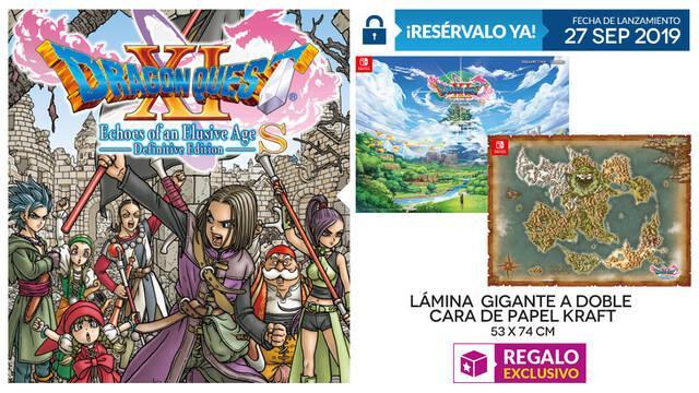 Reserva en GAME Dragon Quest XI para Switch y llévate de regalo una lámina gigante
