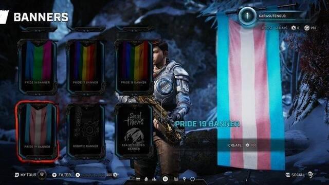 Gears 5 te permite lucir tu bandera LGTBQ+ en el banner del multijugador