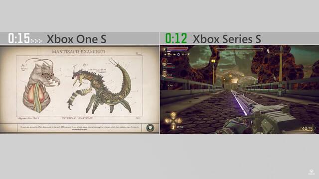 Xbox Series S The Outer Worlds tiempos de carga