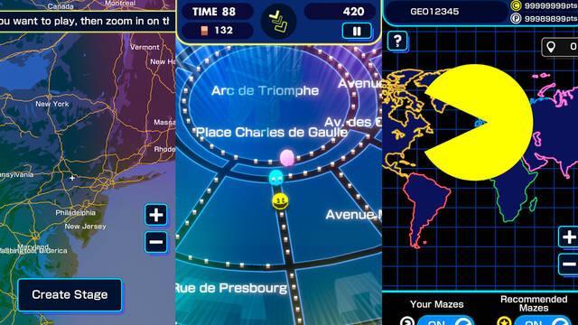 Pac-Man Geo gratis para móviles iOS y Android