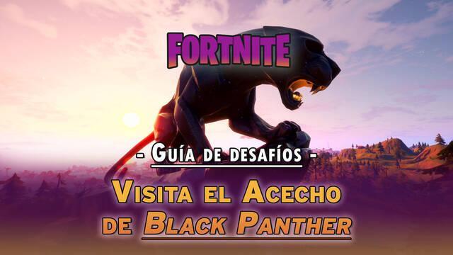 Desafío Fortnite: Visita el Acecho de Black Panther - LOCALIZACIÓN