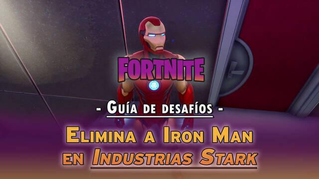 Desafío Fortnite: Elimina a Iron Man en Industrias Stark - LOCALIZACIÓN