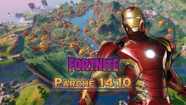 Fortnite parche 14.10: cambios en el mapa, nuevos cosméticos y novedades