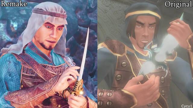 Prince of Persia Las arenas del tiempo remake comparativa