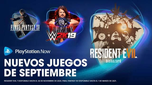 Juegos PS Now de septiembre de 2020.