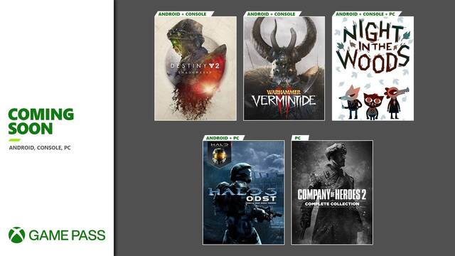 Xbox Game Pass septiembre 2020.
