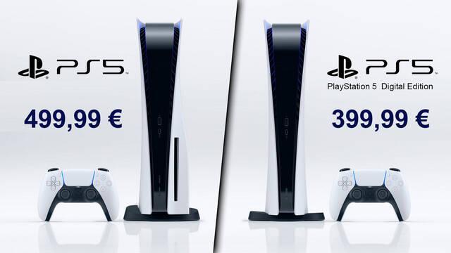 PS5 Digital Edition menos unidades que PS5