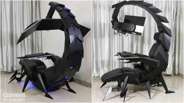 Cluvens Scorpion, una estación de juego que parece un escorpión gigante.