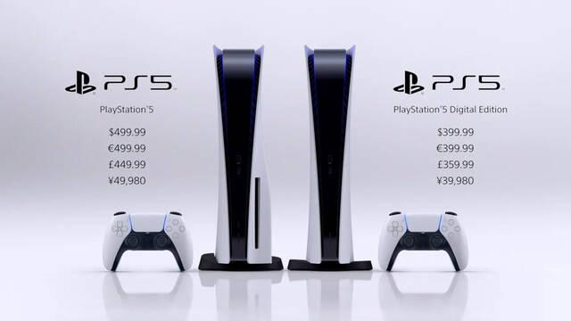PS5 precios decididos inicio 2020