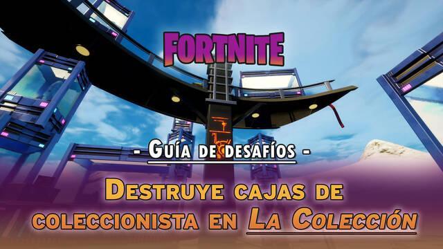 Desafío Fortnite: Destruye cajas de coleccionista en La Colección - LOCALIZACIÓN